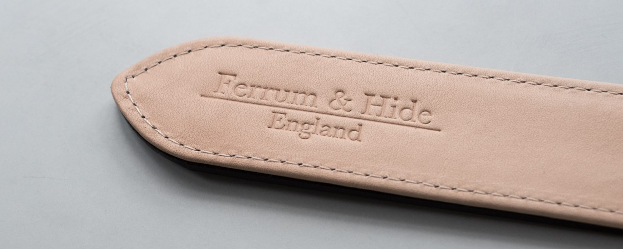 ferrum and Hide Tarnsjo lining leather with embossing